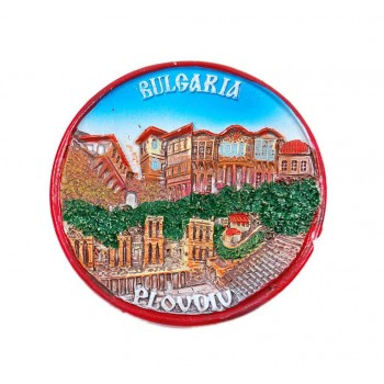 Кръгла магнитна фигурка - Пловдив