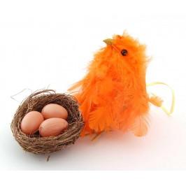 Великденско пиленце с гнездо и три яйца в него