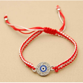 Мартеница - гривна с елемент - кръг със синьо око