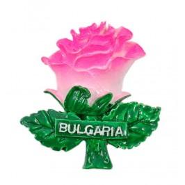 Сувенирна магнитна фигурка - роза с надпис България