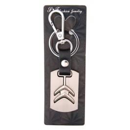 Ключодържател, изработен от кожа с метална пластина - Citroen