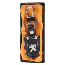 Стилен ключодържател с пластина - Peugeot