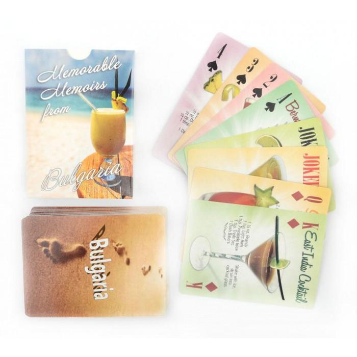 Сувенирни карти за игра - коктейли и техните рецепти
