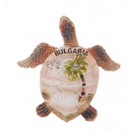 Сувенирна магнитна фигурка във формата на костенурка - с палма