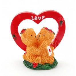 Сувенирна фигурка - влюбени мечета със сърце
