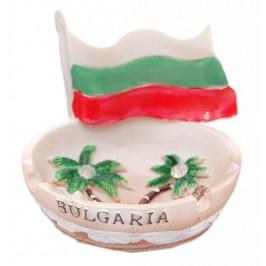 Сувенирен пепелник с българското знаме и палми