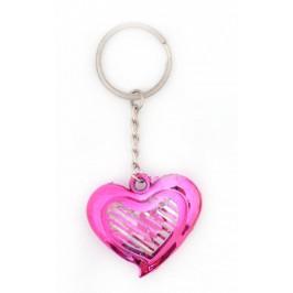 Сувенирен ключодържател във формата на сърце - прозрачно