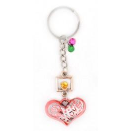 Сувенирен ключодържател във формата на сърце със звънчета