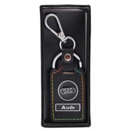Ключодържател с кожена пластина с цветен шев - Audi