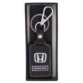 Ключодържател с кожена пластина с цветен шев - Honda