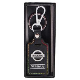 Ключодържател с кожена пластина с цветен шев - Nissan