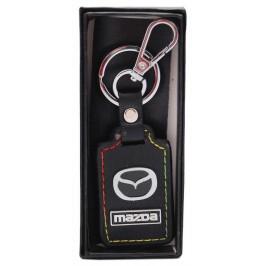Ключодържател с кожена пластина с цветен шев - Mazda