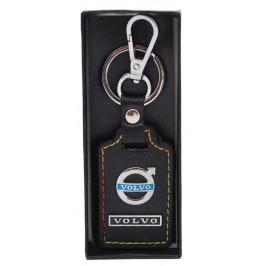 Ключодържател с кожена пластина с цветен шев - Volvo