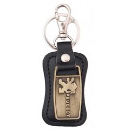 Ключодържател, изработен от кожа с метална пластина - Peugeot