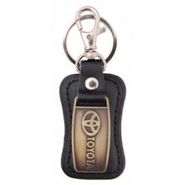 Ключодържател, изработен от кожа с метална пластина - Toyota