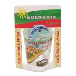Сувенирна чаша за шот - забележителности в Несебър