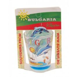 Сувенирна чаша за шот - морски елементи и надпис България