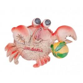 Сувенирна магнитна фигурка във формата на рак с плажна топка