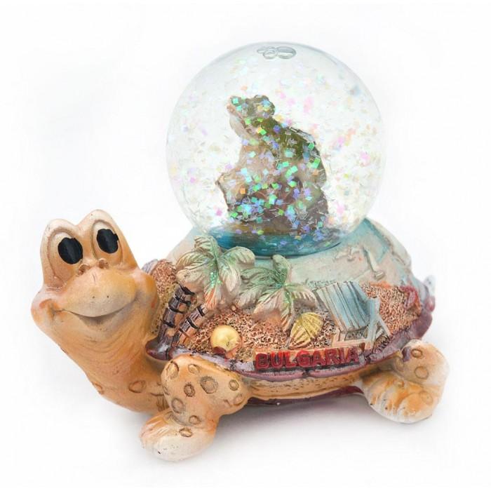 Сувенирно преспапие - жабка върху костенурка