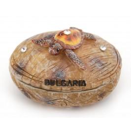 Сувенирна кутийка за бижута с декоративна фигурка костенурка