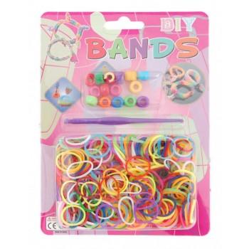 Комплект ластици за направата на гривни - разноцветни