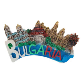 Сувенирна магнитна фигурка със забележителности в България