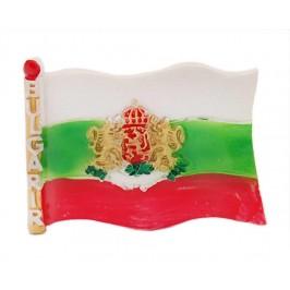 Сувенирна магнитна фигурка - българския трикольор с герб