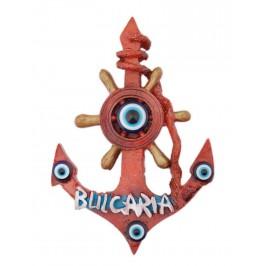 Сувенирна магнитна фигурка във формата на котва с рул