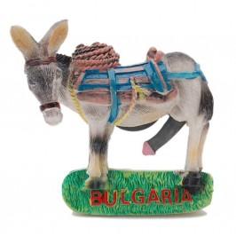 Сувенирна магнитна фигурка - мъжко магаре с надпис България