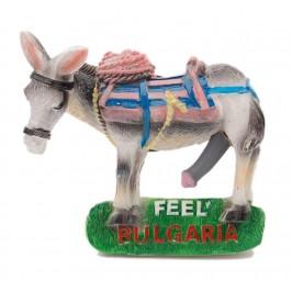 Сувенирна магнитна фигурка - мъжко магаре с надпис - почувствай България