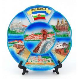 Сувенирна чинийка с изобразени забележителности по Българското Черноморие