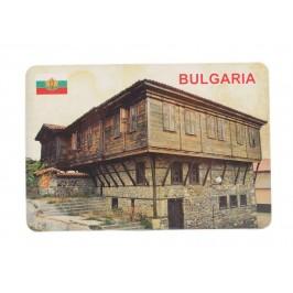 Сувенирна магнитна пластинка - стара българска къща