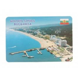 Сувенирна магнитна пластинка - плажове, Златни пясъци