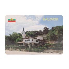 Сувенирна магнитна пластинка - двореца в Балчик