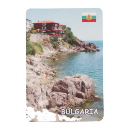 Сувенирна магнитна пластинка - бряг, Созопол