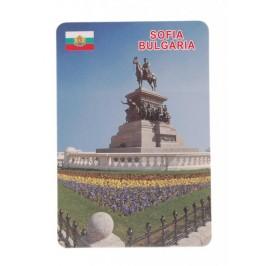 Сувенирна магнитна пластинка - Паметника на Цар Освободител, София
