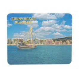 Сувенирна релефна магнитна пластинка - ветроходен кораб, Слънчев бряг