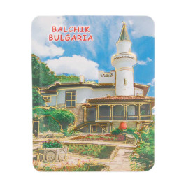 Сувенирна релефна магнитна пластинка - двореца в Балчик