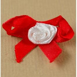 Мартеница стилна копринена панделка с розичка