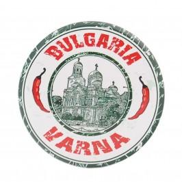 Сувенирна метална значка - катедралата във Варна