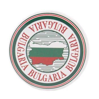 Сувенирна метална значка - контури на България с цветовете на трикольора