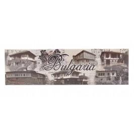 Неогъваща се продълговата магнитна пластинка - стари български къщи