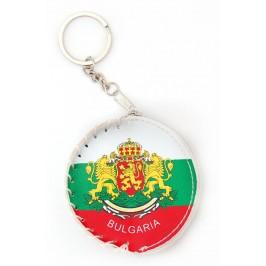 Ключодържател - сувенирно портмоне с цветовете на българския трикольор и герба