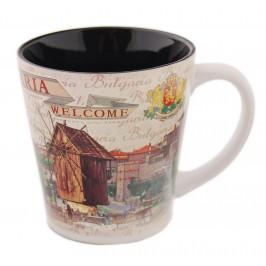 Сувенирна порцеланова чаша - забележителности в Несебър и Южна крепостна стена в Созопол