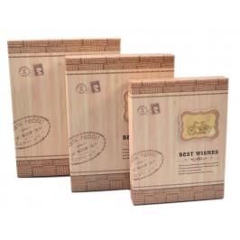 Комплект от 3бр. картонени кутии с надписи и с 3D елемент