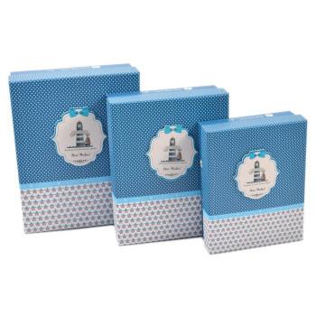Комплект от 3бр. картонени кутии с 3D елемент