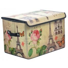 Сгъваема цветна кутия за съхранение с капаче и удобни дръжки за пренасяне