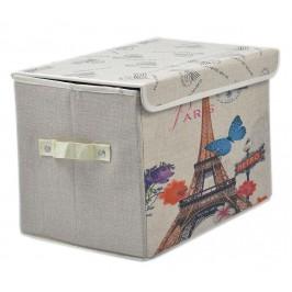 Сгъваема цветна кутия за съхранение с капаче