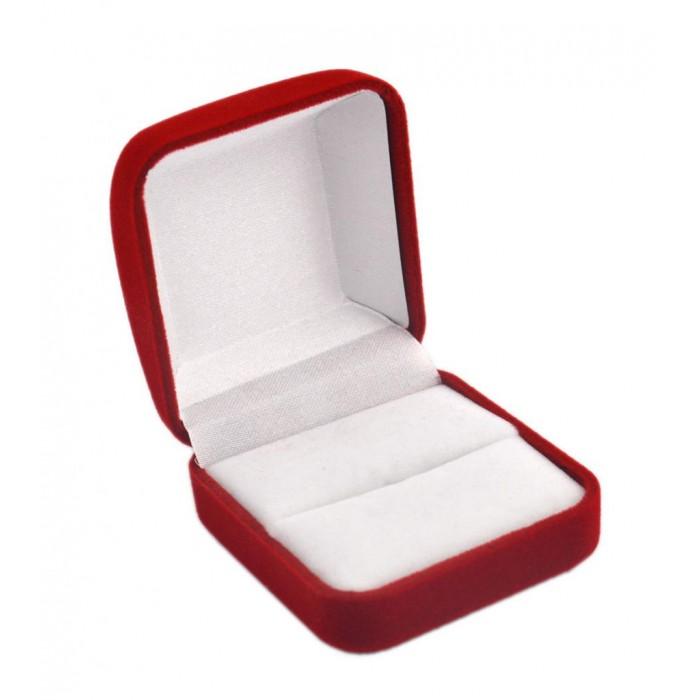 Стилна кутийка за пръстени, изработена от кадифе