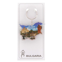 Сувенирен ключодържател във формата на картата на България
